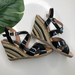 Paloma Barcelo Espadrille Striped Wedges Size 7
